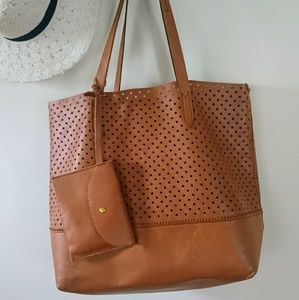 J. Crew hole punch Downing Tote